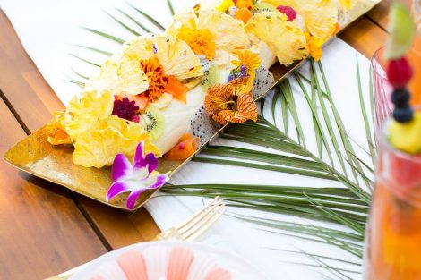 tropical floral party decorations
