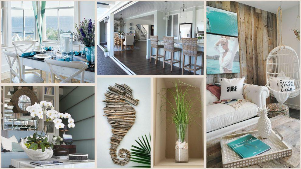 Beach style interior with phalaenopsis