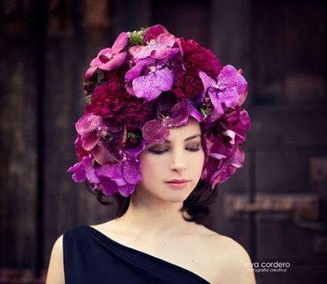 Vanda Orchid flower hat