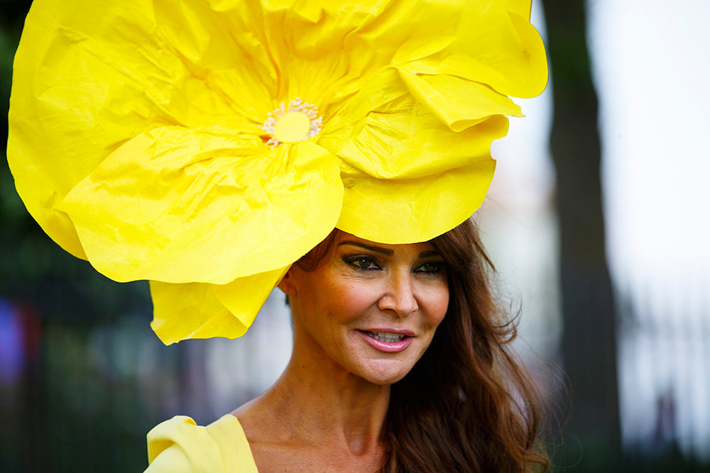 Big yellow flower hat