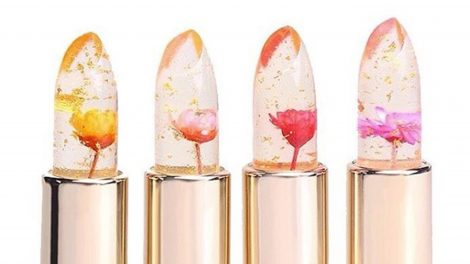 The newest beauty gadget: flower lipsticks with a magical feature