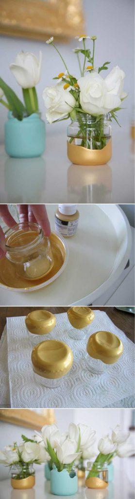 DIY baby food jar vases