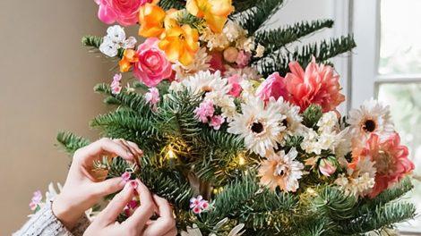 DIY floral christmas tree