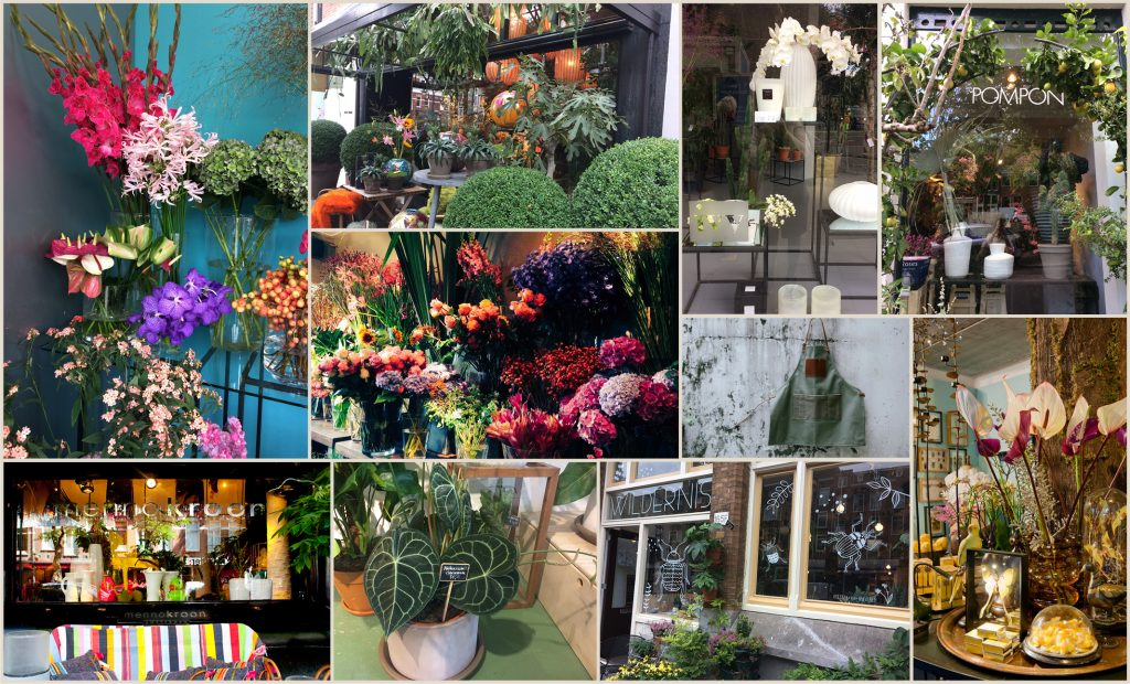 Florist tour Amsterdam at Pompon, Menno Kroon, Wildernis and Ivy