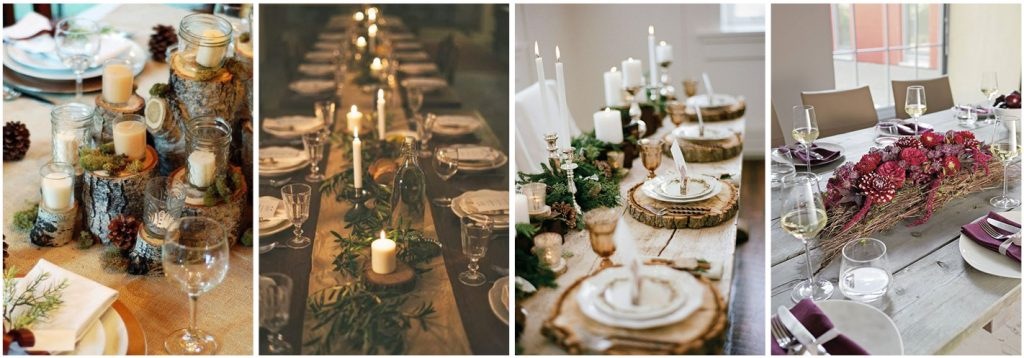 Style a natural Christmas table