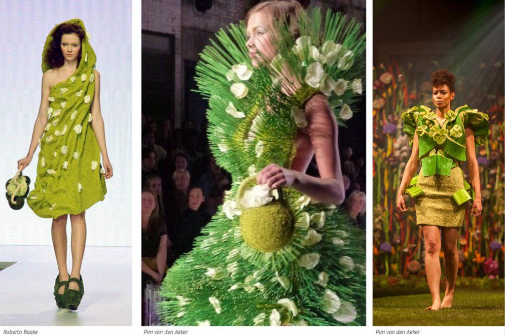 100% green dresses made by Pim van den Akker