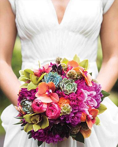 Tropical Bouquet by Martin Roberts Design. Photo: Bryan Derballa