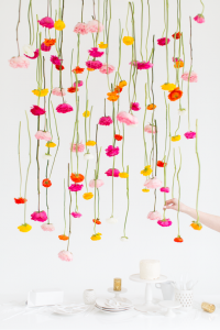 Hanging flowers by sugarandcloth