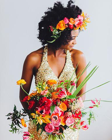 Colourful wedding bouquet. Picture: Michelle Scott Photo