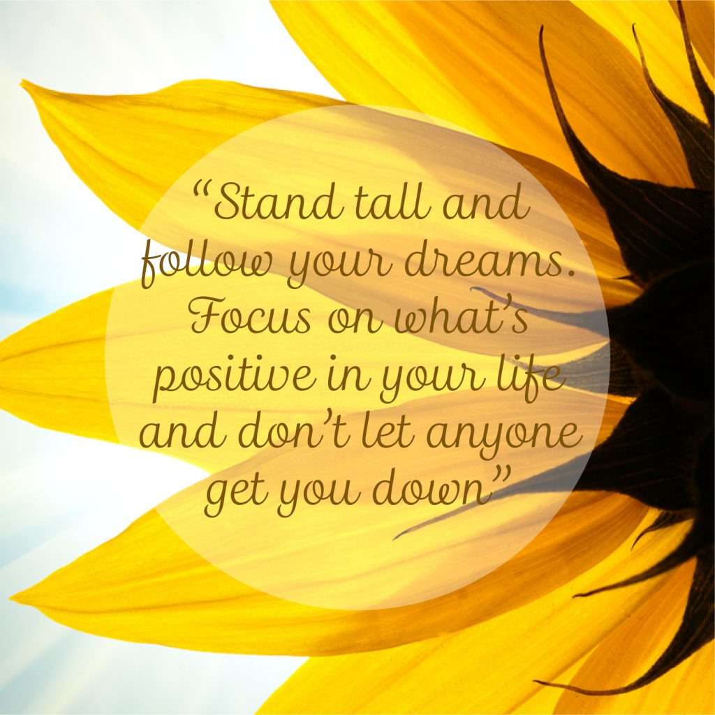 A message from the sunflower inspiration quote