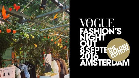 Flowers at Vogue Fashion's Night Out 2016 Amsterdam