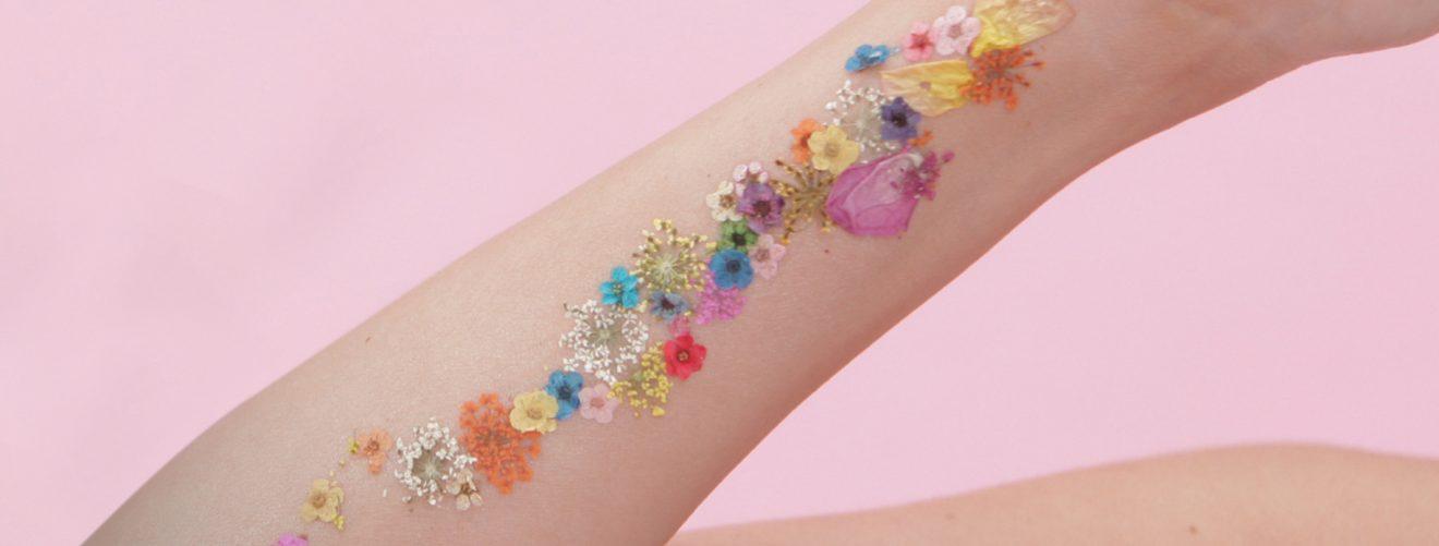 DIY flower tattoo