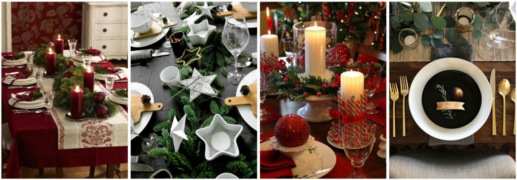 Style a classic Christmas table