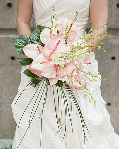 Anthurium wedding bouquet