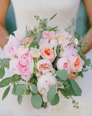 Blushing Spring Bouquet by Julie Stevens Design. Picture: Delbarr Moradi