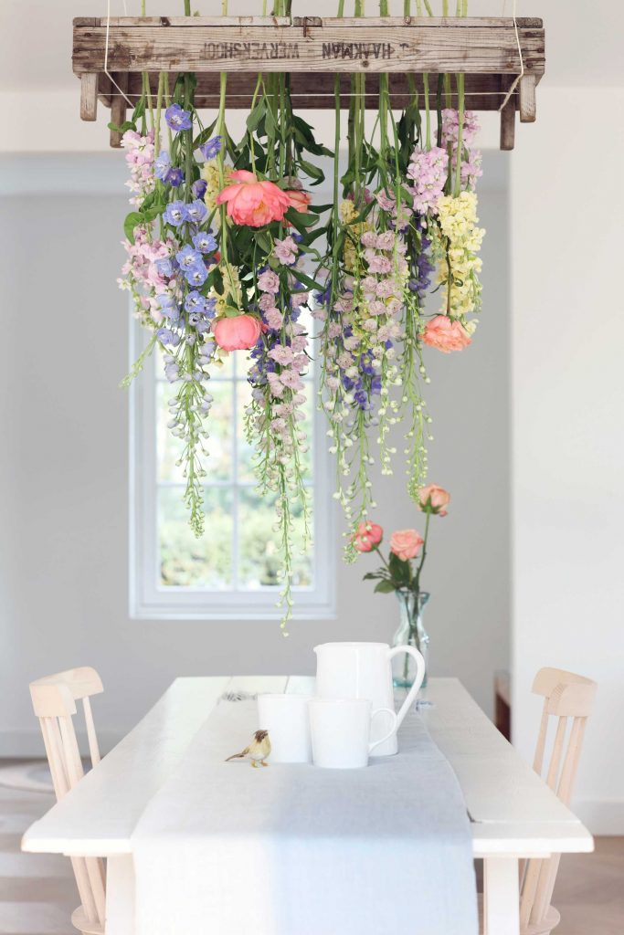 Hanging fielt bouquet