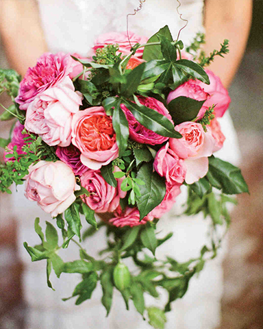 Three flower spring wedding bouquet by Holly flora. Picture: Nancy Neil
