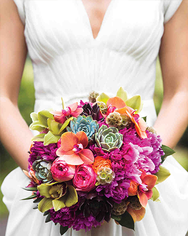 Tropical Bouquet by Martin Roberts Design. Photo: Bryan Derballa