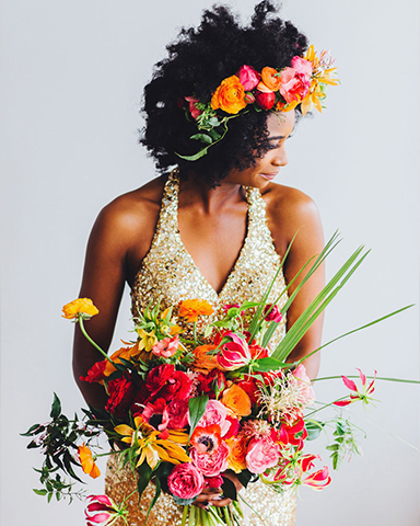 Colourful wedding bouquet. Picture: Michelle Scott Photo