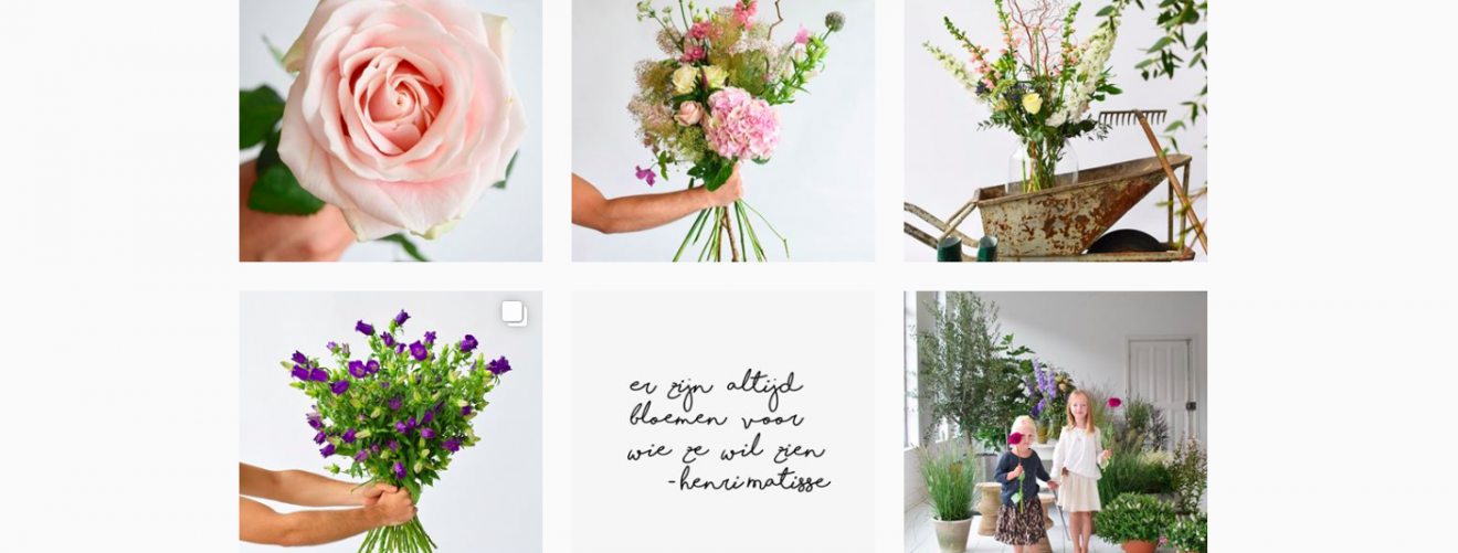 Instagram-accounts vol bloemen